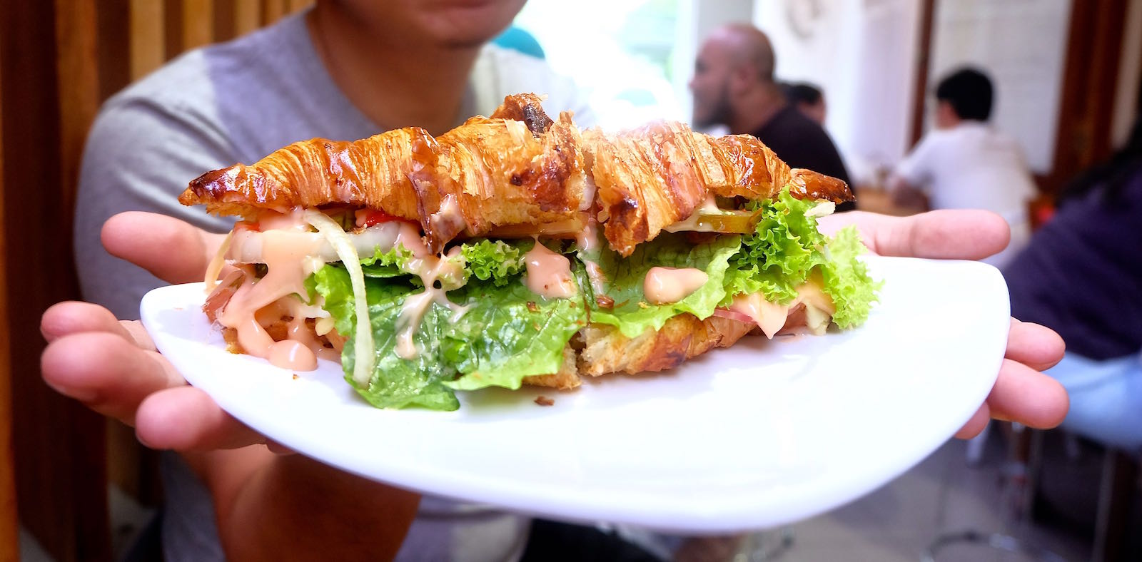 Had the Best Croissant Sandwich Ever at Mom's Artisan Bakery, Bandung