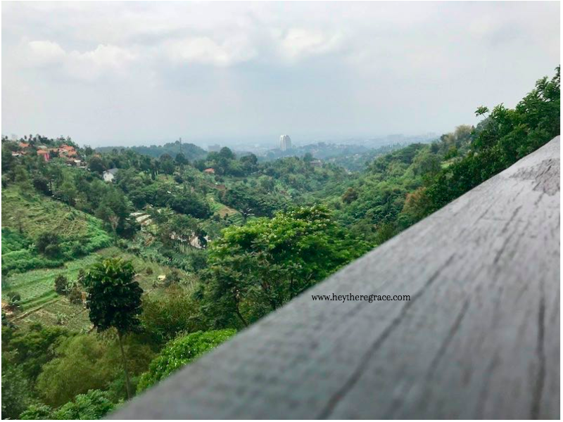 Rumah Miring Bandung - the view 2
