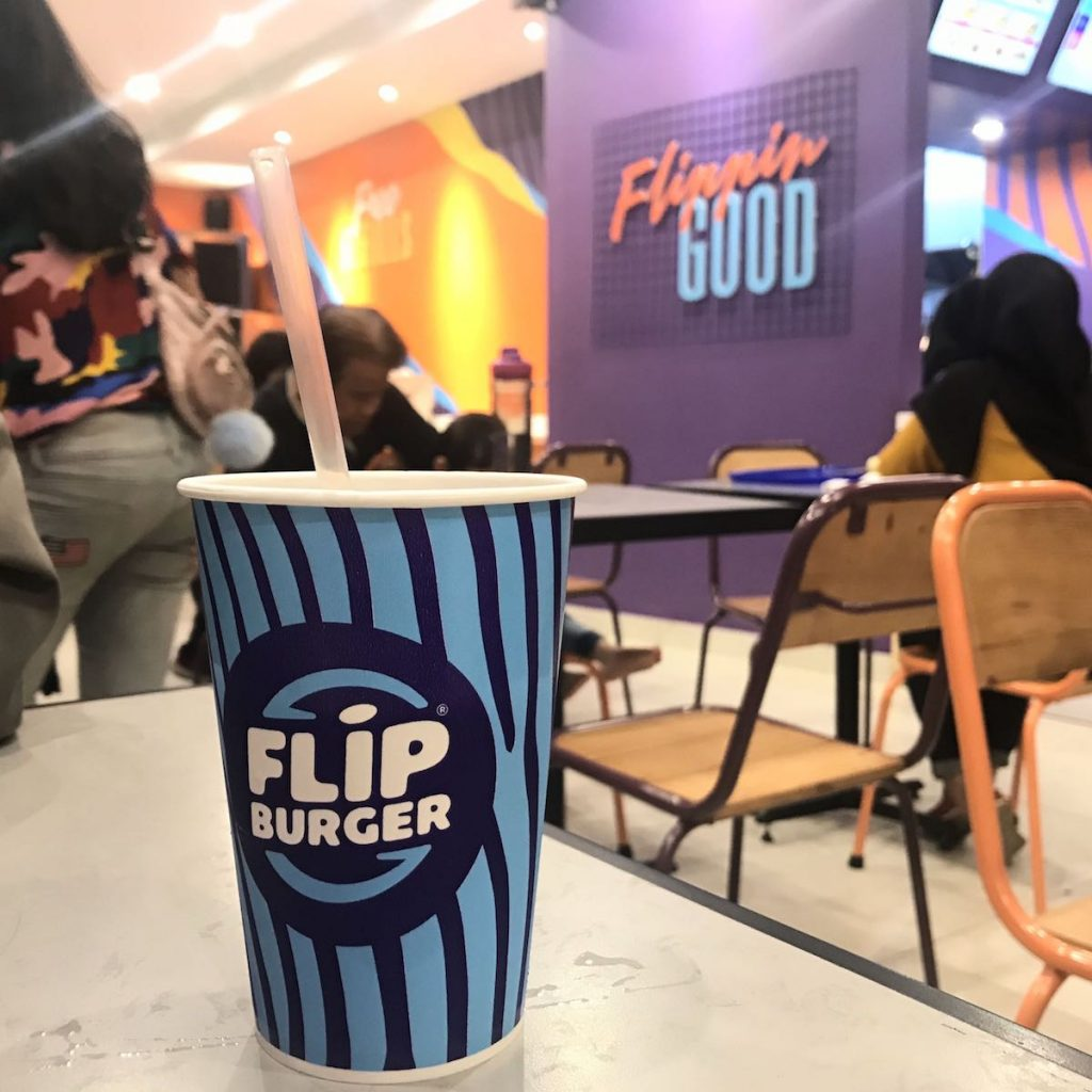 heytheregrace.com | Flip Burger Bandung - purple wall