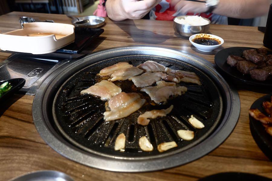 heytheregrace.com | Cooking Marinated Samgyeopsal at Maboo BBQ Bandung