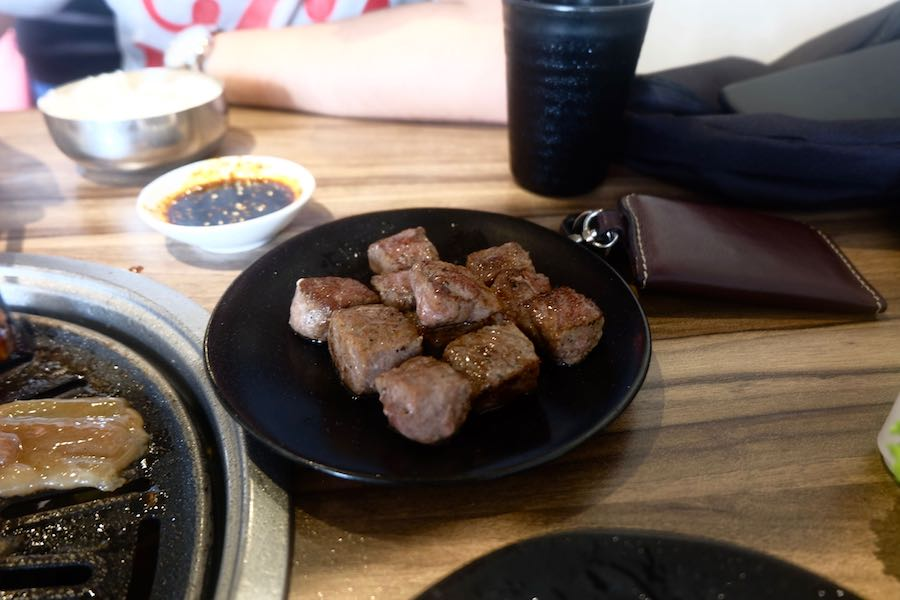 heytheregrace.com | Beef Cube Wagyu (cooked) at Maboo BBQ Bandung