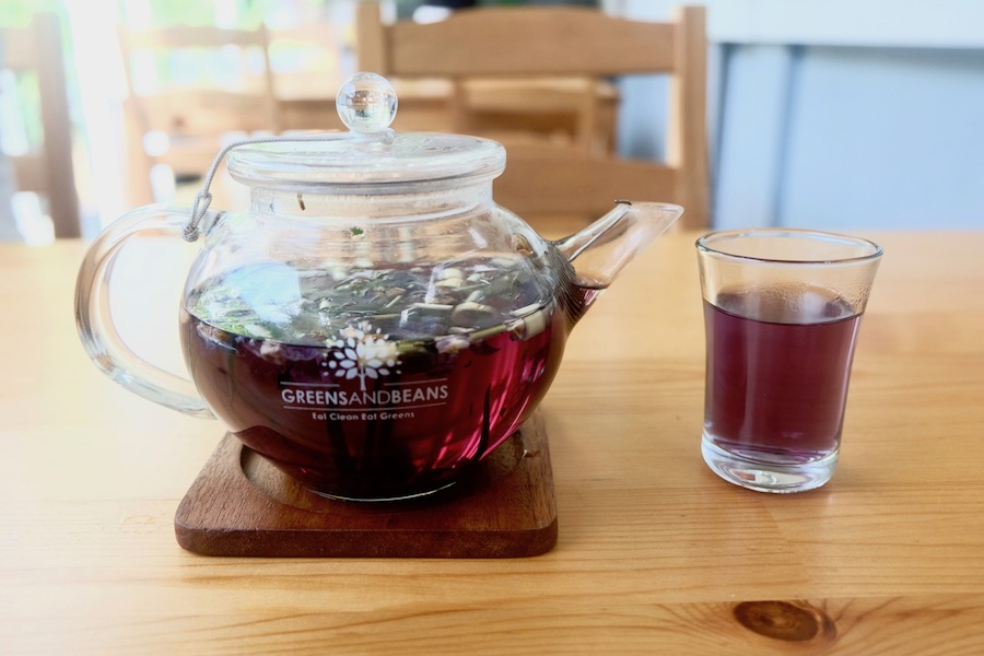 heytheregrace.com | Greens and Bean Bandung - blue bunaken artisan tea