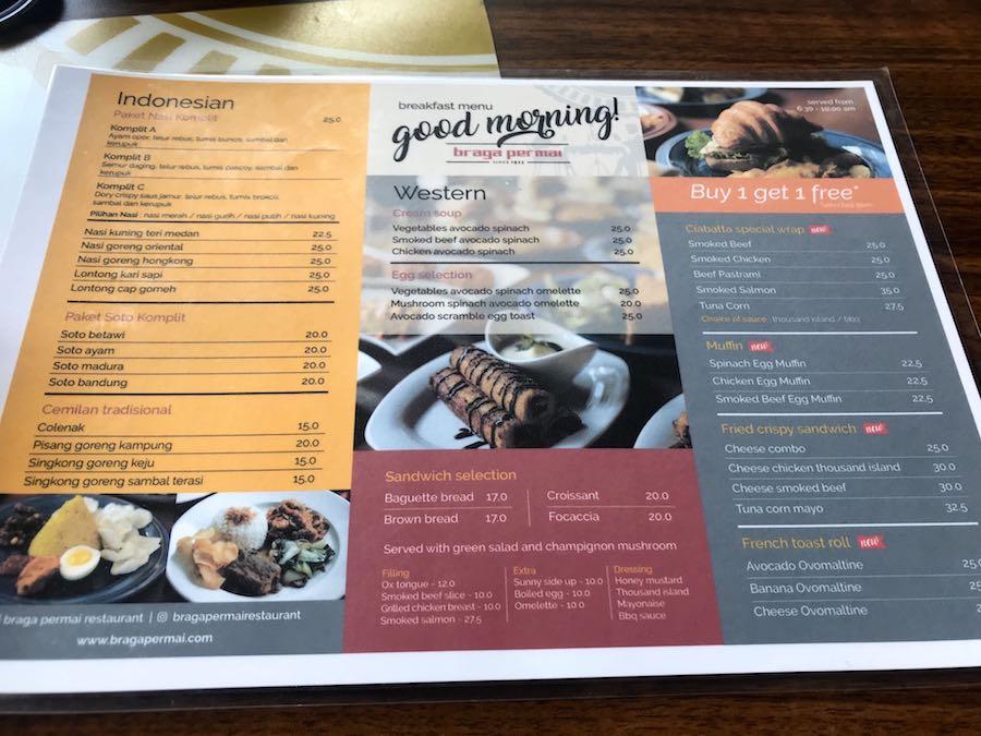 heytheregrace.com | Braga Permai Restaurant - Menu Breakfast
