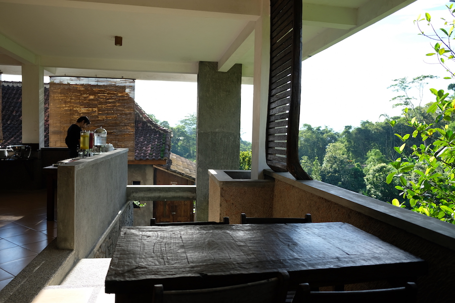 heytheregrace.com | Kampung Lumbung Boutique Hotel, Batu, Malang - breakfast with a view